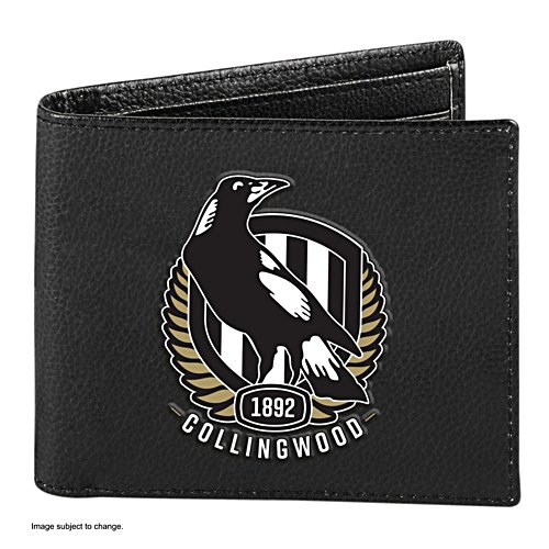 AFL Collingwood Magpies RFID Blocking Leather Wallet