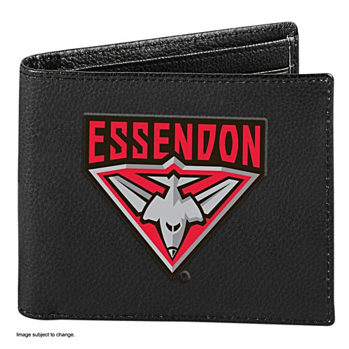 AFL Essendon Bombers RFID Blocking Leather Wallet