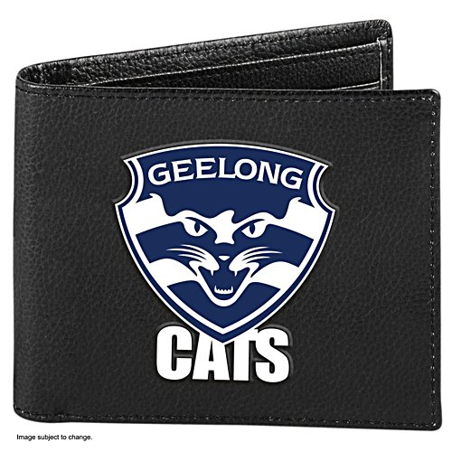 AFL Geelong Cats RFID Blocking Leather Wallet
