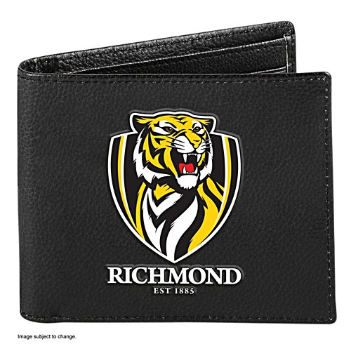 AFL Richmond Tigers RFID Blocking Leather Wallet
