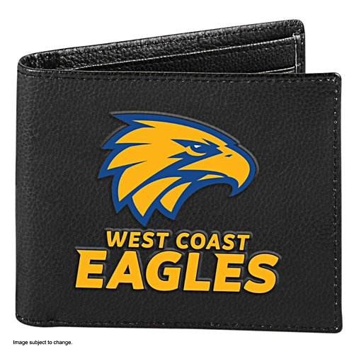AFL West Coast Eagles RFID Blocking Leather Wallet
