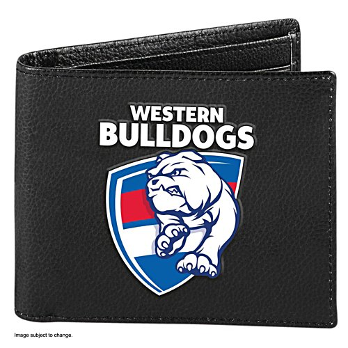 AFL Western Bulldogs RFID Blocking Leather Wallet