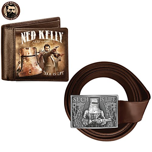 Ned Kelly 'Such is Life' Belt and Wallet Set