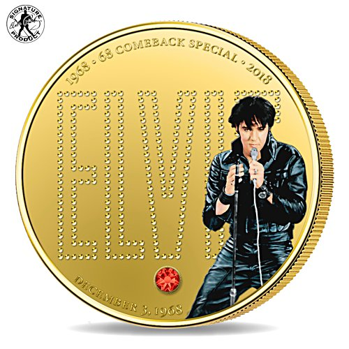 Elvis Presley '68 Comeback Special Golden Proof Coin
