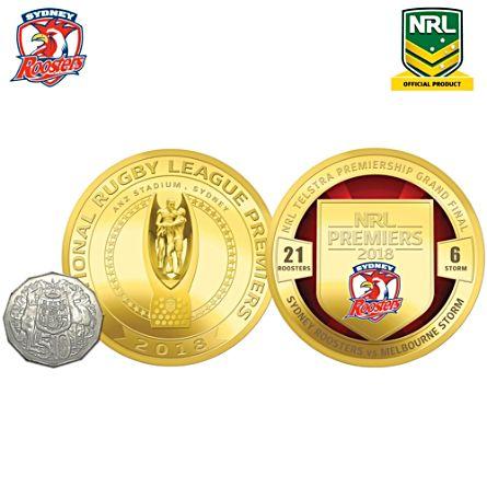 2018 NRL Telstra Premiership Medallion