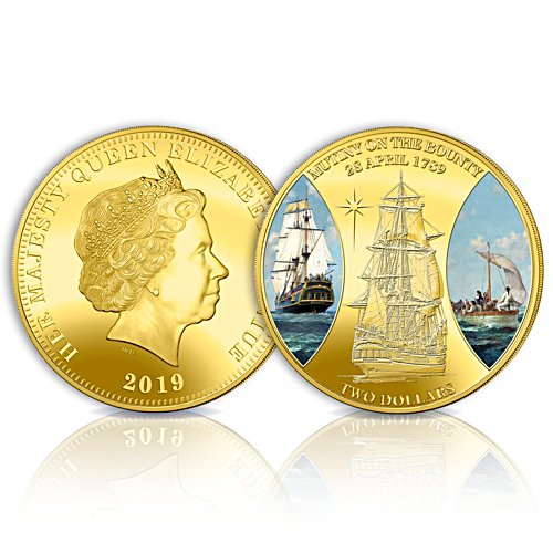 Mutiny on the Bounty Golden Proof Coin