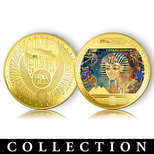 Treasures of Egypt Golden Proof Coin Collection