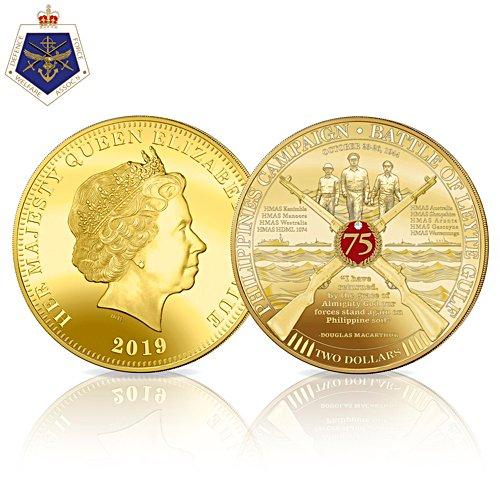 Battle of Leyte Gulf Golden Proof Coin