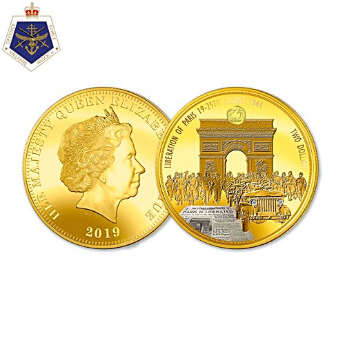 Liberation of Paris 75th Anniversary Golden Proof Coin