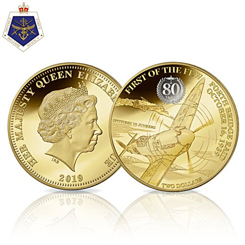 Spitfire First Mission 80th Anniversary Golden Proof Coin