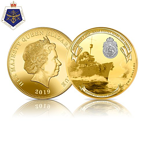 105th Anniversary HMAS Sydney Sinks SMS Emden Golden Proof Coin