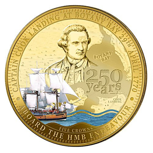 250th Anniversary of James Cook Landing at Botany Bay Five Crowns