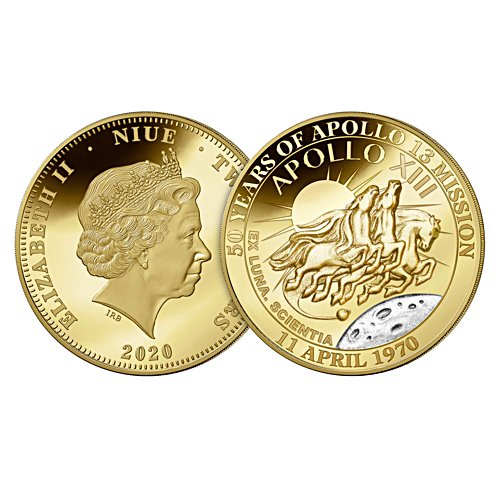 50th Anniversary Apollo XIII Mission Golden Proof Coin