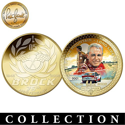 Peter Brock 75th Anniversary Golden Proof Commemorative Coin Collection