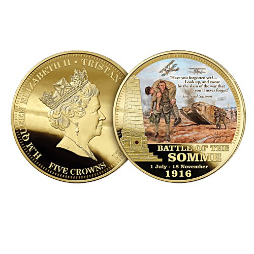 Battle of the Somme Anniversary Five Crown Coin