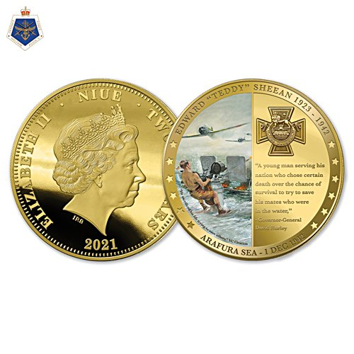 Teddy Sheean VC At Last Golden Proof Coin