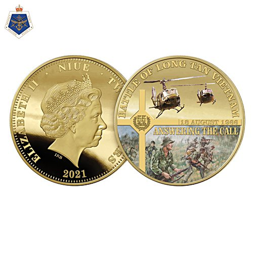 Battle of Long Tan 55th Anniversary Golden Proof Coin
