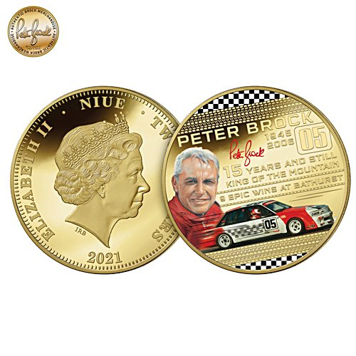 """""""Peter Brock 15 Years and Still King of the Mountain"""" Golden Proof Coin"""