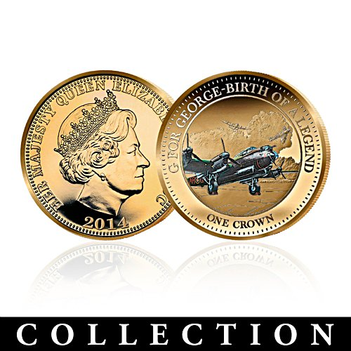 G for George 24-Carat Gold Plated Coins with Aviation Art