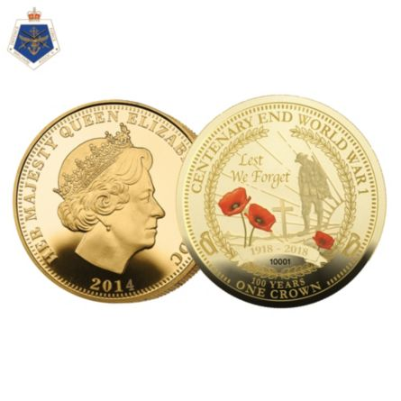 Wwi Centenary Crown Collection With 24 Carat Gold Layering