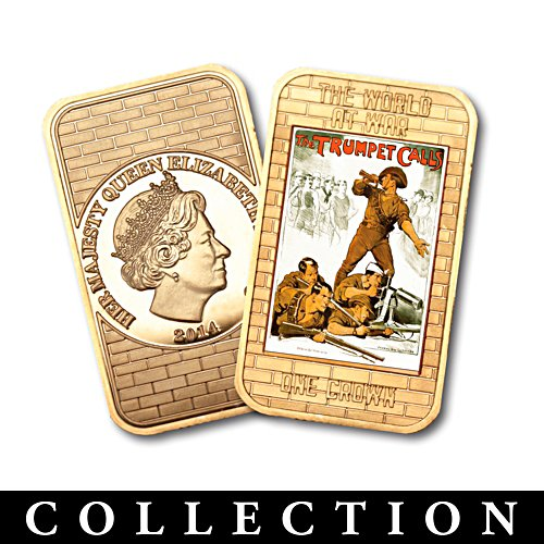 WWI Iconic Posters Ingot Coin Collection