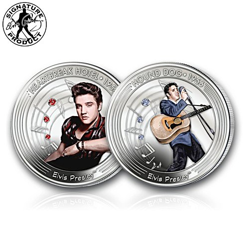 Elvis Presley 1956 60th Anniversary Celebration Silver Set