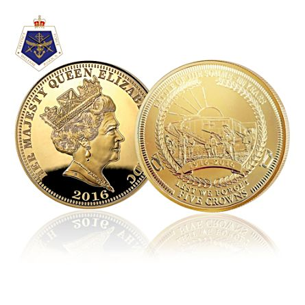 Centenary of the Battle of Somme 24K Gold Five Crown Coin