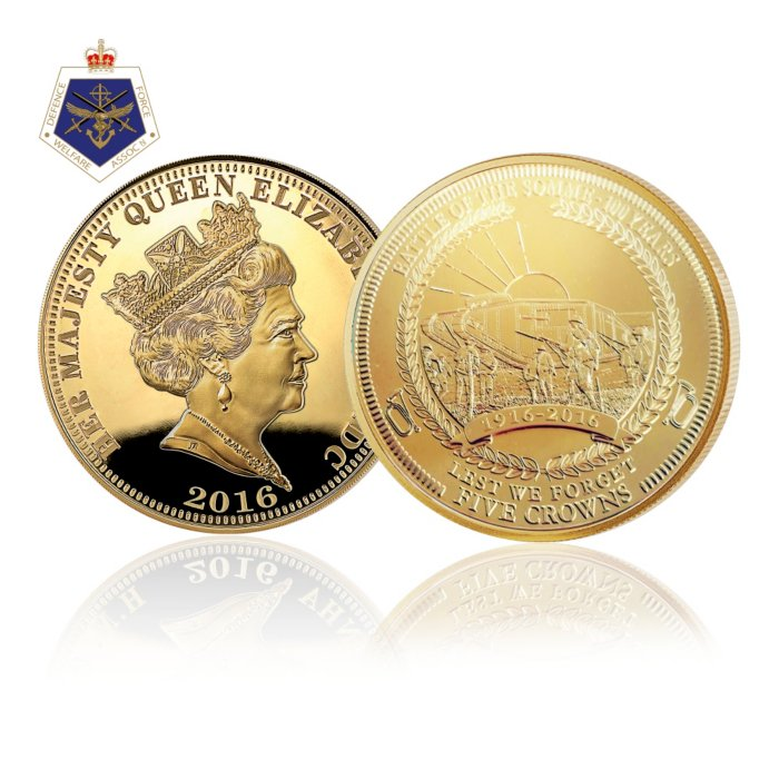 Centenary Of The Battle Somme Gold Five Crown