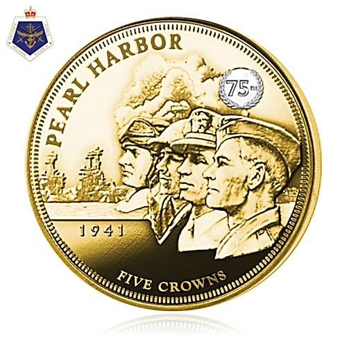 The Attack On Pearl Harbor Five Crown Gold Coin