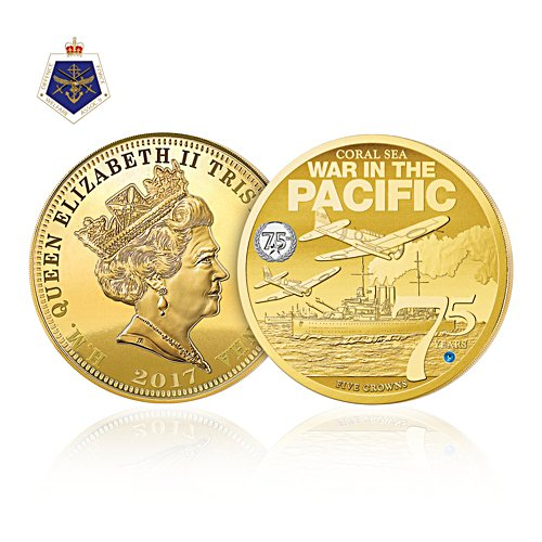Battle of The Coral Sea Five Crowns Coin