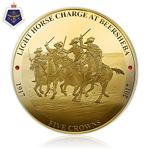 Light Horse Charge at Beersheba Five Crown Coin