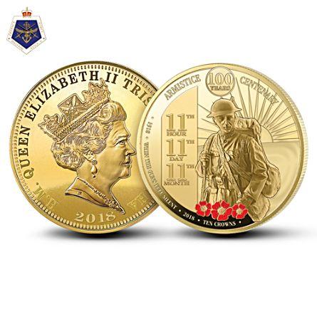 Centenary of the Great War Armistice Ten Crown Coin