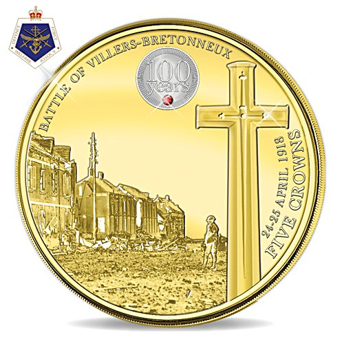 Battle of Villers-Bretonneux Centenary Five Crown Coin