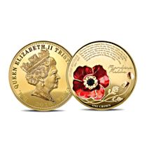Lest We Forget Poppy One Crown Coin