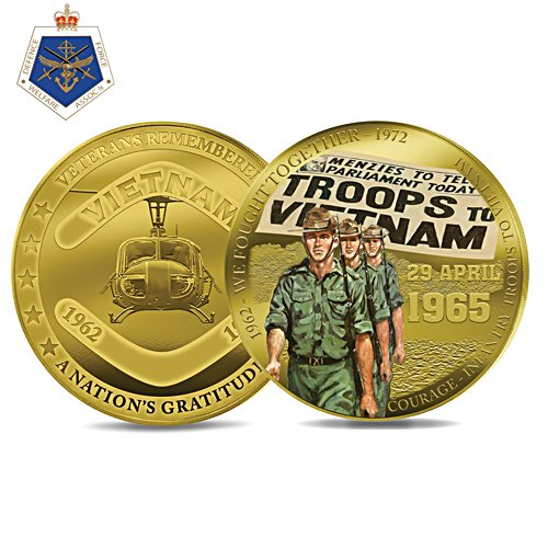 Courage: Infantry Troops Coin