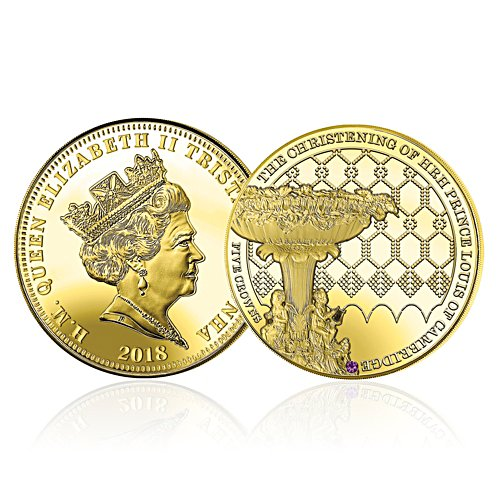 The HRH Prince Louis Royal Christening Five Crown Coin