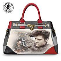 """Elvis Presley """"Burning Love"""" Handbag With Removable Shoulder Strap"""