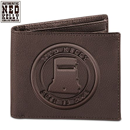 Ned Kelly Leather Wallet with RFID Technology