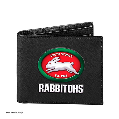 NRL South Sydney Rabbitohs RFID Blocking Leather Wallet
