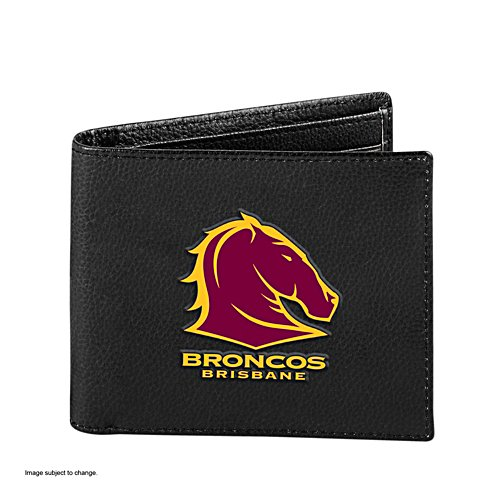 NRL Brisbane Broncos RFID Blocking Leather Wallet