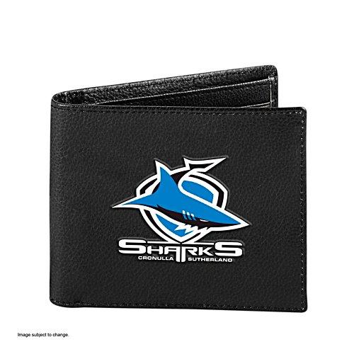 NRL Cronulla Sharks RFID Blocking Leather Wallet