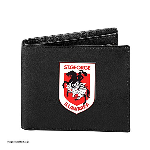 NRL St. George Illawarra Dragons RFID Blocking Leather Wallet