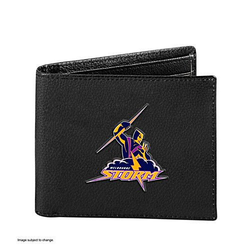 NRL Melbourne Storm RFID Blocking Leather Wallet