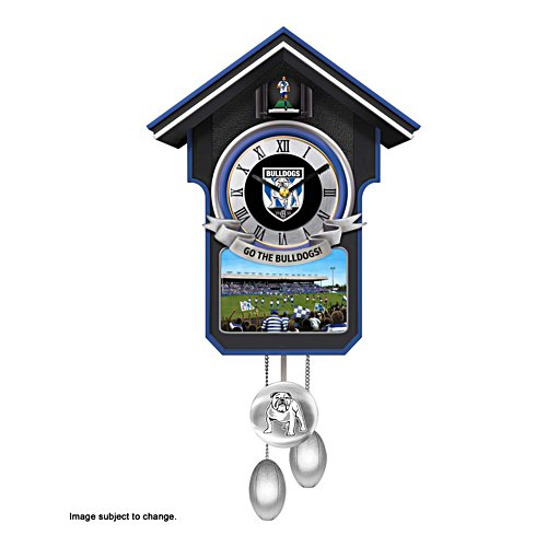 NRL Canterbury Bulldogs Wall Clock with Sound and Movement