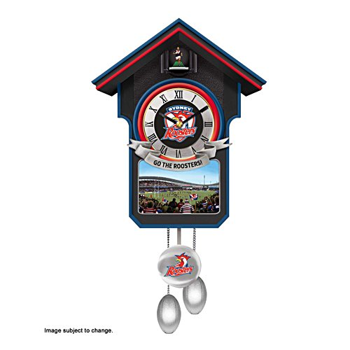 NRL Sydney Roosters Wall Clock with Sound and Movement