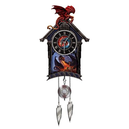 The 'Ultimate Dragon' Fantasy Art Cuckoo Clock