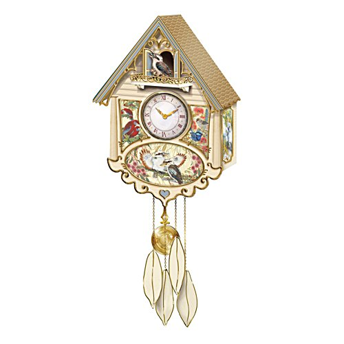"""Birds of the Bush"" Cuckoo Clock With Sound and Motion"