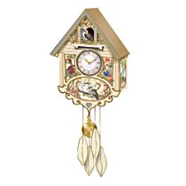 """""""Birds of the Bush"""" Cuckoo Clock With Sound and Motion"""
