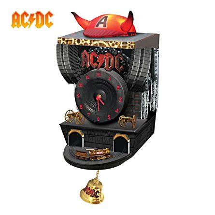 AC/DC Sculptured Cuckoo Clock
