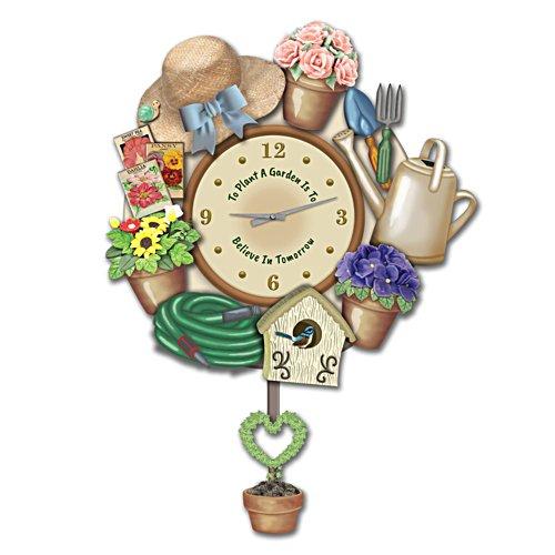 'Joy Of Gardening' Sculptural Wall Clock